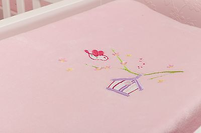 new Baby Change pad cover soft velour pink
