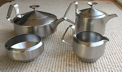 Old Hall Stainless Steel Alveston Tea Set Designed  By Robert Welch Retro