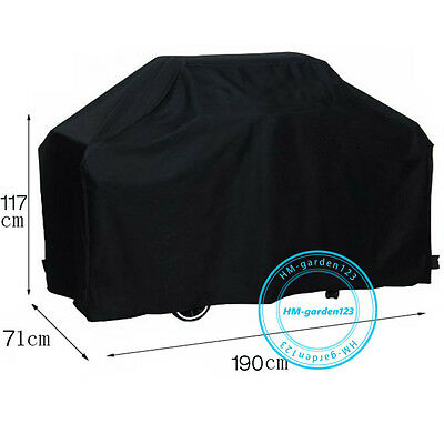Waterproof BBQ Cover 6 Burner 190x118x68cm Dust Charcoal Barbecue Protector AU