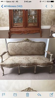 French Louis XVI Sofa And Two Armchairs