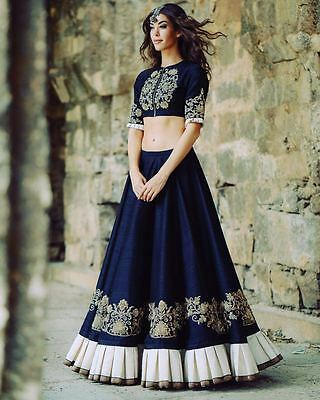 Blue Color New Fancy Latest Indian Bollywood Designer Embroidered Lehenga Choli