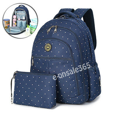 Large Multifunction Waterproof Baby Nappy Changing Bags Mummy Layout Backpacks