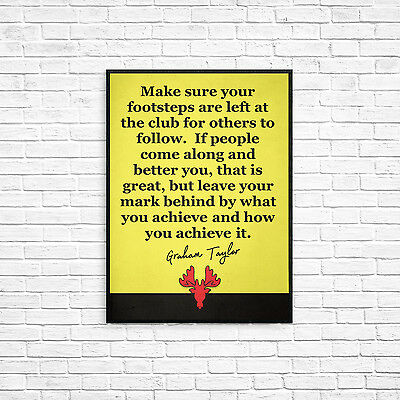 Graham Taylor Watford FC Quote A4 Picture Art Poster Retro Print WFC
