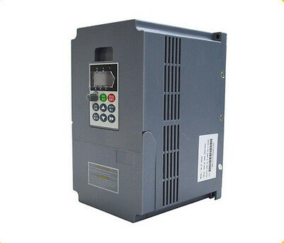 220V 4KW 5.4HP 17A 1PH Single Phase 400Hz input  VC V/F Control VFD for CNC