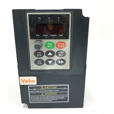 1.5KW 2HP 7A 1PH Single Phase 220V 400Hz VC V/F Control VFD for Spinning Machine