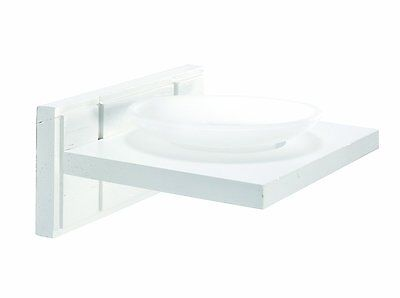 Croydex Maine Frosted Soap Dish Holder Stand Rack Shelf White Wood Bathroom New