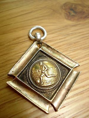 Antique sterling silver/gold Thomas Fattorini football medal 1943