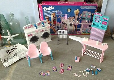 """Vintage Barbie """"So Much To Do"""" Laundry Playset - 1995 - Boxed With Instructions"""