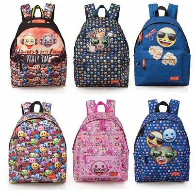 Emoji SMILEY ORIGINAL Backpack Rucksack Travel Work School Bag Girls Boys