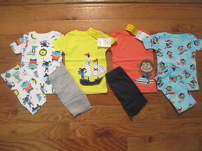 8 piece LOT of baby boy spring/summer pajamas size 18  months NWT