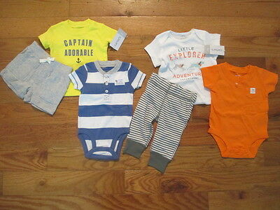 6 piece LOT of baby boy spring/summer clothes size 3 months NWT
