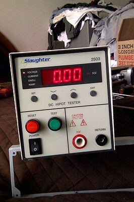 Slaughter 2503 DC hipot 5-kV with test leads (not shown)