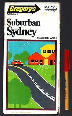 Australian Road Map Gregory's SUBURBAN SYDNEY 40 panel Map