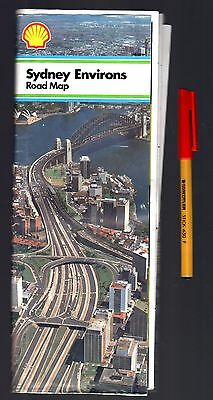 Australian Road Map SHELL Petroleum 32 panels SYDNEY ENVIRONS 16 panels per side