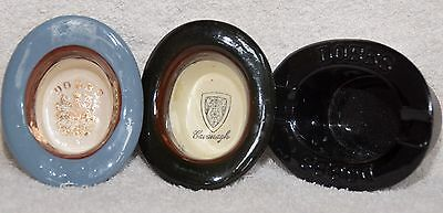 Vintage Cavanagh and Dobbs NY Miniature Glass Ceramic Hat Advertising Salesman S