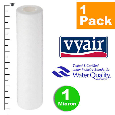 """VYAIR 10"""" PP 1 Micron Particle / Sediment / Reverse Osmosis Water Filter x 1"""