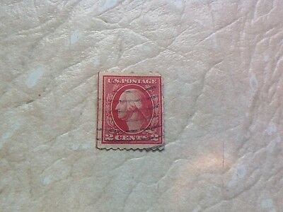 Rare Red Line Washington 2 Cent Stamp Free Ship