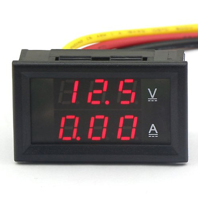 DROK® Digital Voltmeter Ammeter Voltage Current Meter DC 4.5-30V/10A 12V/24