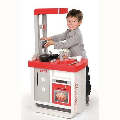 Bon Appetit Red KITCHEN Realistic Cooking Role Playing With Fridge Oven Hotplate