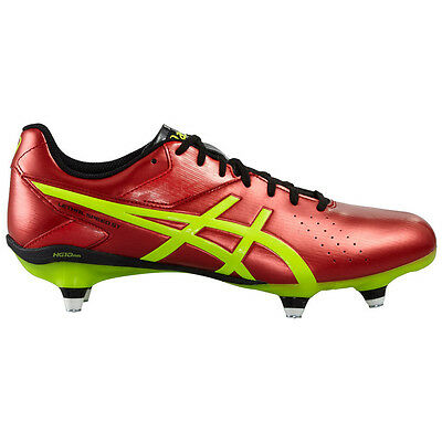 Asics Lethal Speed St Men's Rugby Boots (Vermilion/Black/Yellow)
