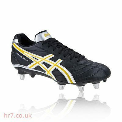 Asics Lethal Drive Men's Rugby Boots (Black/Yellow)
