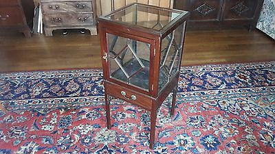 "Edwardian  mahogany display cabinet 31"" Ht"