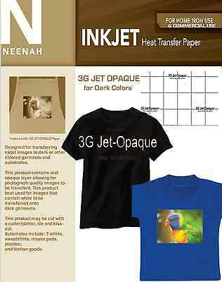 Neenah 3G Jet Opaque Heat Transfer Paper for Dark Colors 8.5x11 (20 sheets)