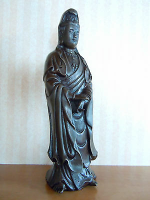 Chinese Bronze Figure of Guan Yin-Four Character Marks