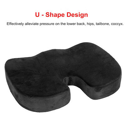 Memory Foam Car Seat Cushion Pad Universal with Black Fluff Cover for Cars Home