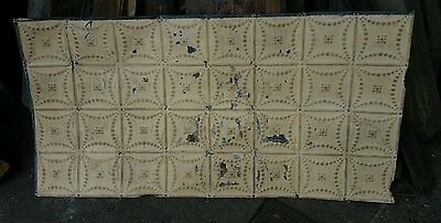 "1 - 24"" x 48"" Antique Ceiling Tin Tile Vintage Reclaimed Salvage Re Purpose Art"