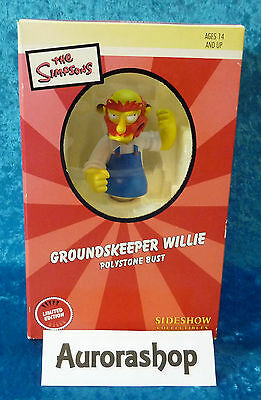 Sideshow Figur The Simpsons Groundskeeper Willie Büste Bust Limitation: 2000 Stk