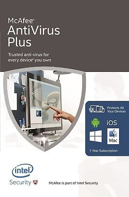 Latest McAfee Antivirus Plus 1Year Unlimited Devices PC Mac Phone Tablet Android