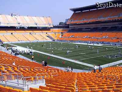 (2) Steelers vs Packers Tickets Lower Level Row K Aisle Seats!!