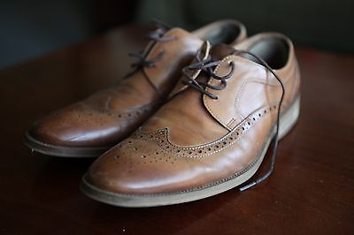 Aldo Men's Dress Shoes Brown Wing Tip Leather Size 7