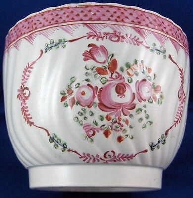 Nice Antique 18thC Staffordshire Pearlware Floral Sugar Dish English England