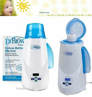 Dr Brown's Natural flow Deluxe Baby Bottle Warmer Electric Steam Heat System