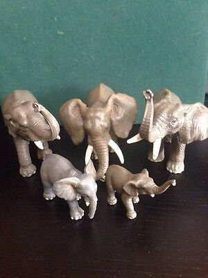 Schleich Rare Retired African Elephant Family #14083 #14027 #14039 #14182 #14144