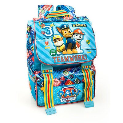 Paw Patrol Premium Blue Backpack Rucksack Expandable Boys School Bag Ergonomic