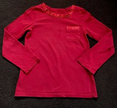 Toddler Girls Long Sleeve Red Top Shirt Size 5/6