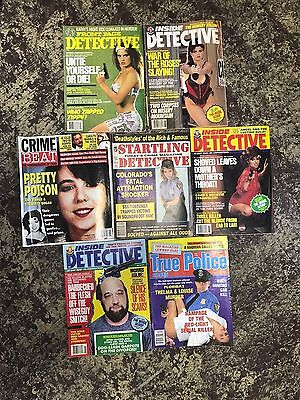 Lot of 7 Detective and Crime Magazines from the 1990's