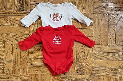 Gymboree Baby Girl Red One Piece Lot 0-3 months