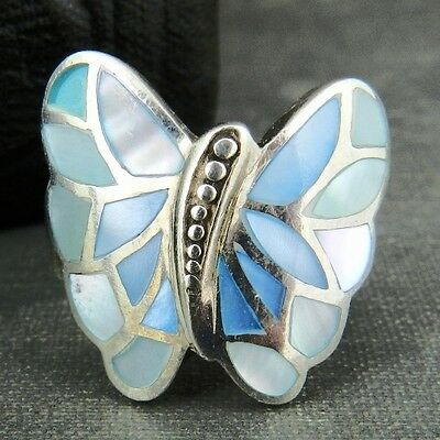 NF Thailand Sterling Silver Blue Butterfly Ring