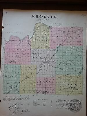 1886 Johnson County, KS plat map