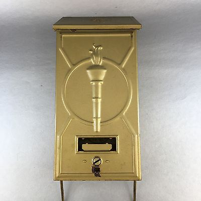 VINTAGE Patent Novelty Co. Fulton, IL Liberty Victory Torch Metal Mailbox 1920's