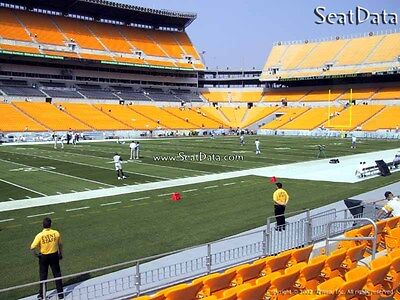 (2) Steelers vs Ravens Tickets Lower Level Sidelines 7th Row!!
