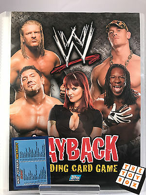 WWE Wrestling Payback Trading Cards in Folder