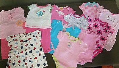 Baby Girl Spring / Summer Clothes Lot - Size 3 - 6 Months - 13 Pieces