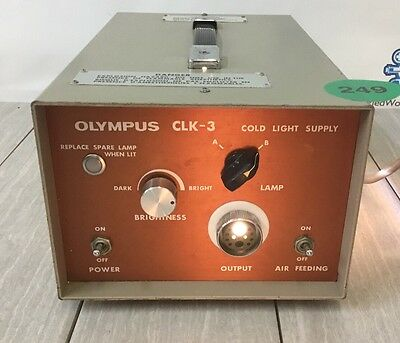 OLYMPUS CLK-3 Light Source Endoscopy 249
