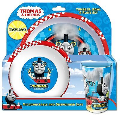 Thomas the Tank Engine & Friends Racing Childrens Tumbler Bowl & Plate Set - NEW