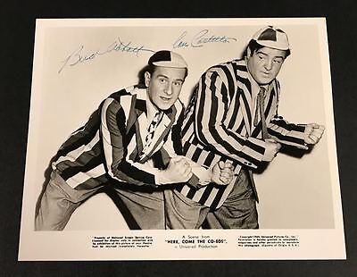 "Legendary Entertainers Abbott and Costello HAND SIGNED Vintage 8""x10"" PHOTO RARE"